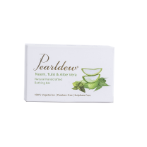 Pearldew Neem Tulsi Aloe Bathing Bar